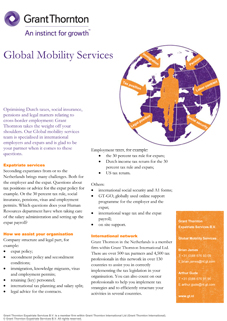 Global mobility services flyer cover