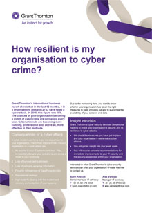 How resilient is my organisation to cyber crime cover
